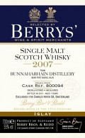 Berrys Selection Bunnahabhain Moine 2007 - bottled 2015 Cask Nr. 800094