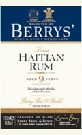 Berry's Own Selection Rum - Haïti aged 9 years 46% 70cl